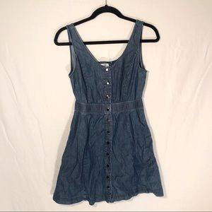 Donating Soon F21 Chambray Button Up Mini Dress S